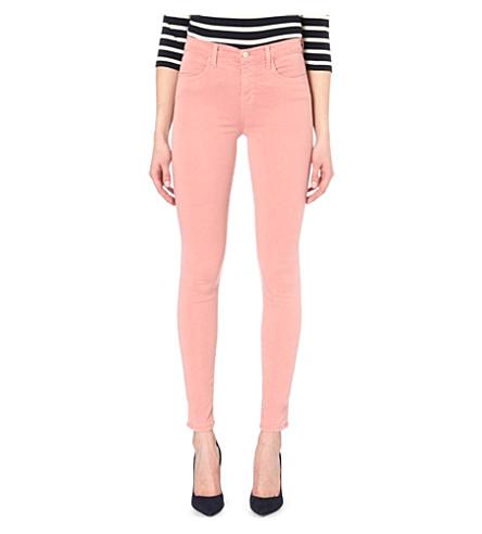 J BRAND Maria skinny high-rise jeans (Rouge