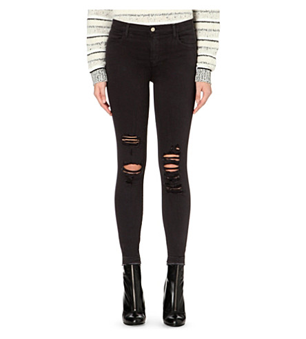 J BRAND Alana skinny high-rise jeans (Demented+black