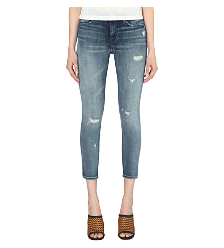 J BRAND Alana skinny-fit mid-rise cropped jeans (Rendition