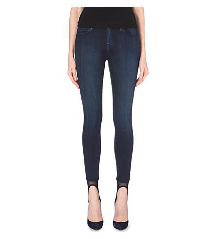 J BRAND 23127 Stocking Lexi stirrup skinny high-rise jeans (Darkness