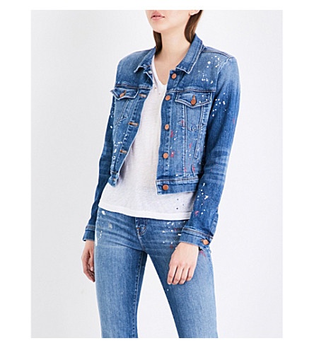 J BRAND FASHION Harlow denim trucker jacket (Peace