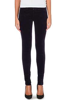 J BRAND Velveteen skinny mid-rise stretch-denim jeans