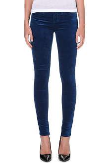 J BRAND Libertine skinny mid-rise velvet jeans