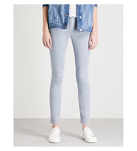 J BRAND 485 Luxe Sateen super-skinny mid-rise jeans (Yearling