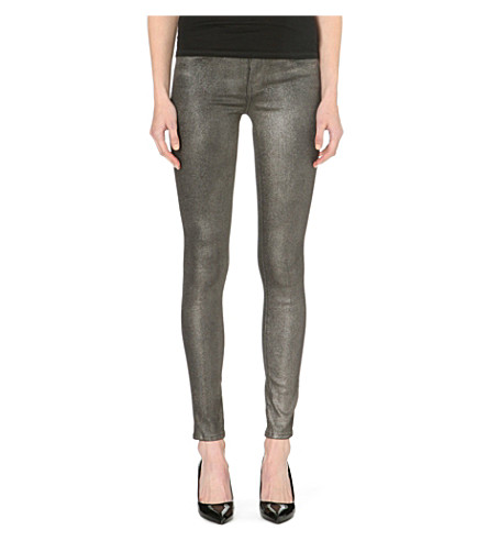 J BRAND 620 Stocking super-skinny mid-rise jeans (Dusted bronze