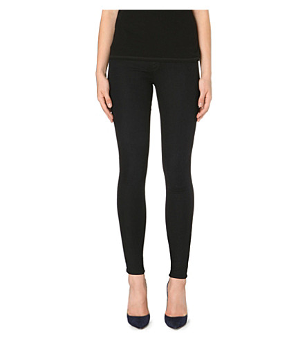 J BRAND Super-skinny mid-rise waxed jeans (Veil