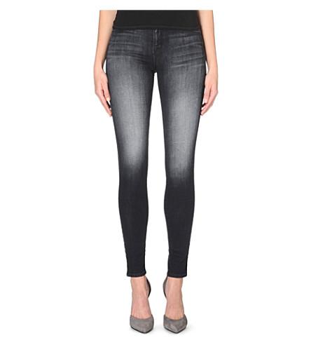 J BRAND Super-skinny mid-rise stretch-denim jeans (Polarized