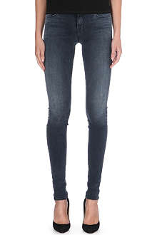 J BRAND Stacked super-skinny mid-rise jeans