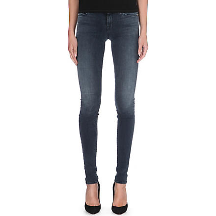 J BRAND Stacked super-skinny mid-rise jeans (Crush