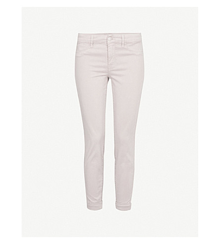 J BRAND Anja skinny cropped mid-rise jeans (Biscuit