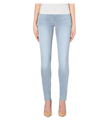 J BRAND 8112 Close Cut Rail skinny mid-rise stretch-denim jeans (Illusion