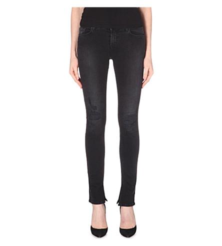 J BRAND Rail Rip Repair skinny mid-rise jeans (Break-up