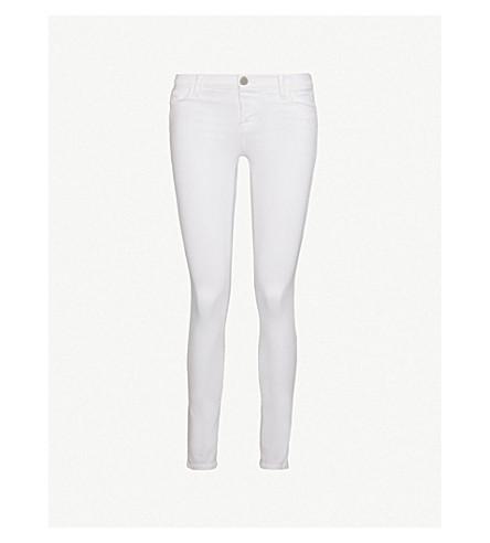 J BRAND 811 skinny mid-rise jeans (Blanc