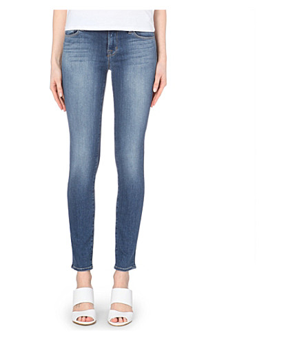 J BRAND Faded skinny mid-rise jeans (Imagine