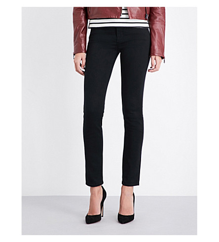 J BRAND 811 skinny mid-rise jeans (Seriously+black