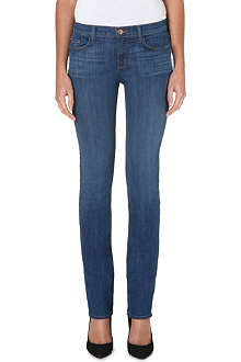J BRAND Cigarette skinny mid-rise jeans