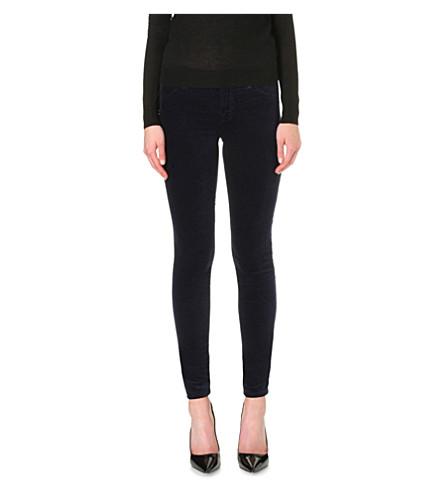 J BRAND 815 super-skinny velvet jeans (Black+iris
