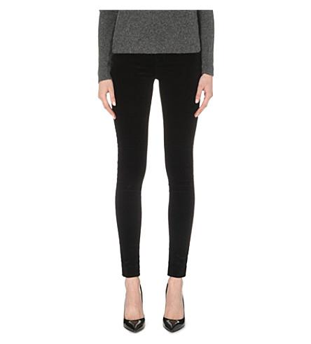 J BRAND 815 super-skinny velvet jeans (Black