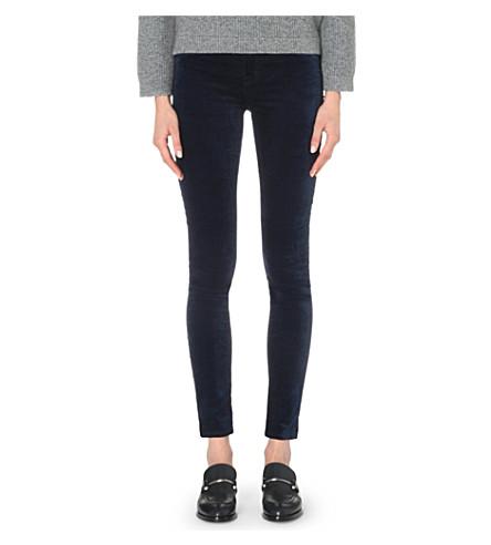 J BRAND 815 super-skinny velvet jeans (California blue