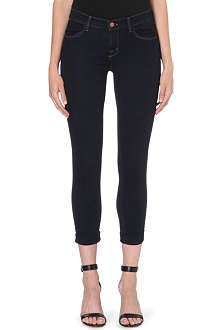 J BRAND Cuffed cropped skinny jeans