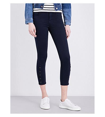 J BRAND Suvi skinny mid-rise jeans (Black+iris