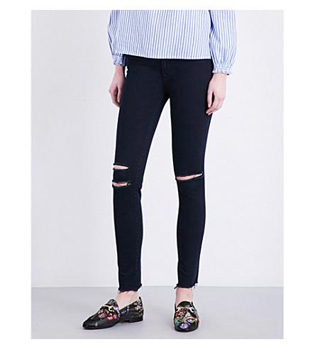 J BRAND Mercy skinny mid-rise jeans (Blue+mercy