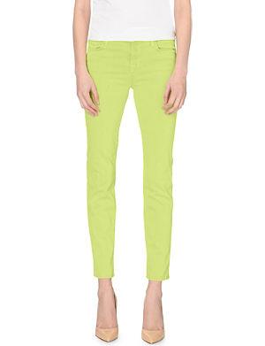 J BRAND 8312 Cropped Rail slim-fit mid-rise jeans