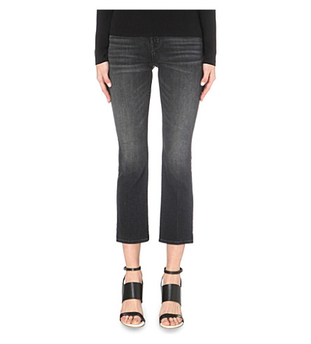 J BRAND Selena cropped bootcut mid-rise jeans (Anthracite
