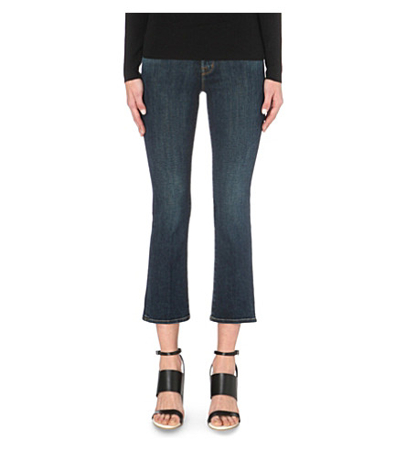 J BRAND Selena cropped bootcut mid-rise jeans (Lonesome