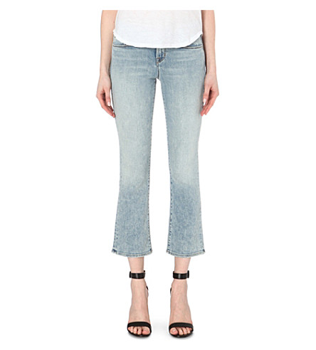 J BRAND Selina cropped bootcut mid-rise jeans (Decades
