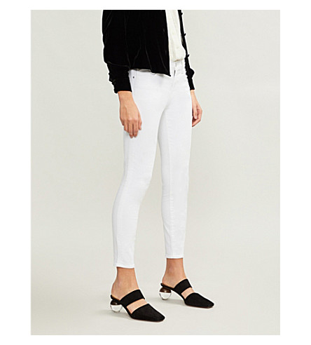 J BRAND 835 Capri skinny mid-rise jeans (Blanc