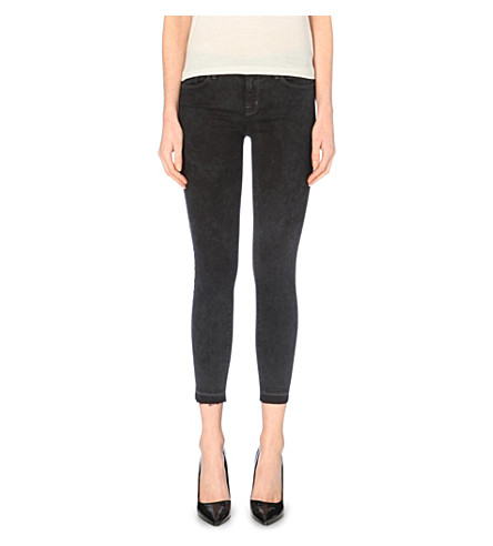 J BRAND Skinny mid-rise jeans (Black noise