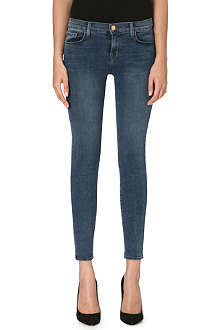 J BRAND Cropped skinny mid-rise jeans