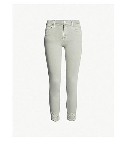 J BRAND 835 Capri skinny mid-rise jeans (Aded+gibson+destruct