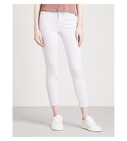 J BRAND 835 Capri skinny mid-rise jeans (Frosted+amythest