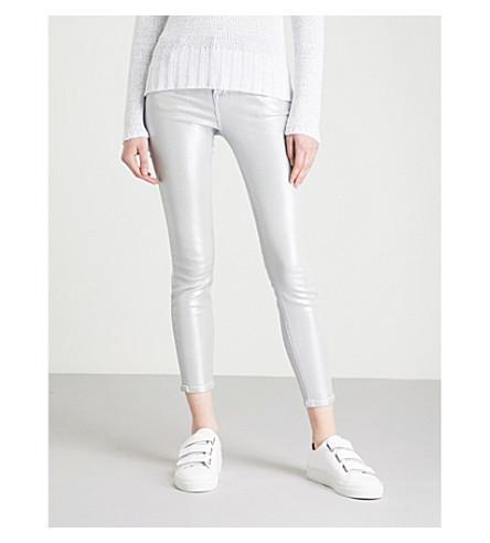 J BRAND 835 Capri skinny mid-rise jeans (Iridescent