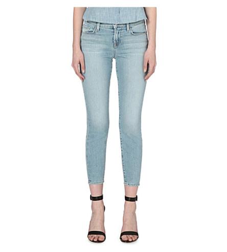 J BRAND Skinny mid-rise capri jeans (Beach+line