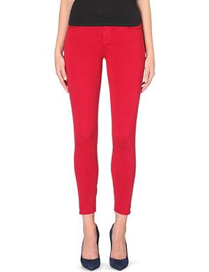 J BRAND Sateen skinny mid-rise stretch-denim jeans