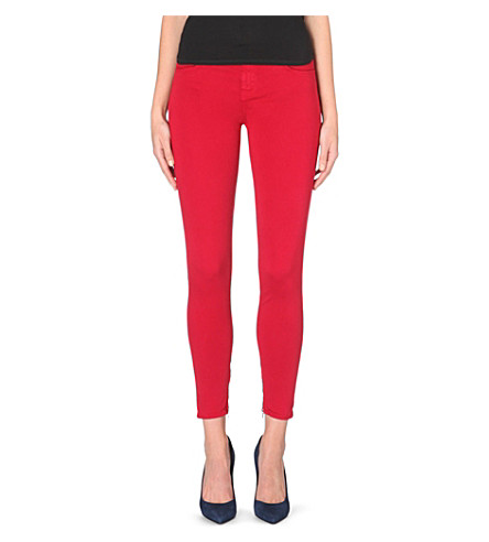 J BRAND Skinny cropped mid-rise sateen jeans (Redburn