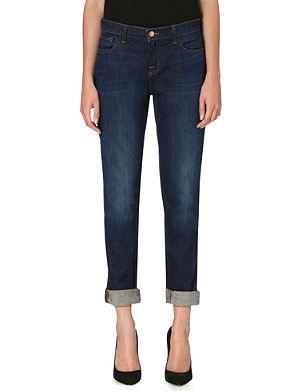 J BRAND Jake slim-fit mid-rise boyfriend jeans