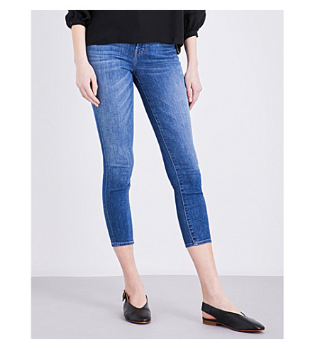 J BRAND Alana skinny high-rise jeans (Angelic