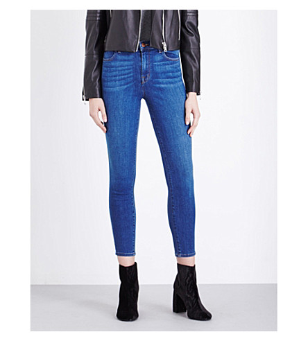 J BRAND Alana skinny high-rise jeans (Connection