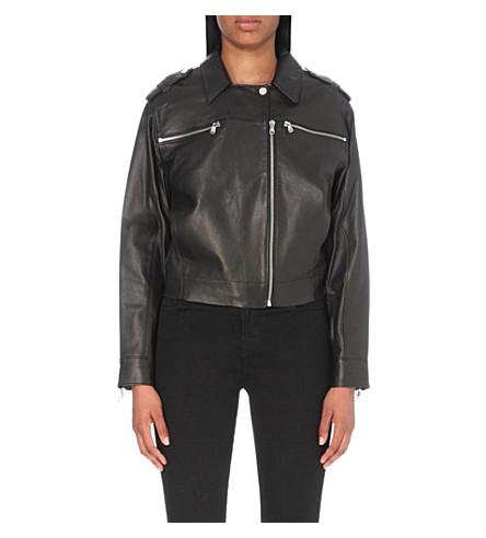 J BRAND FASHION Maisie leather jacket (Black