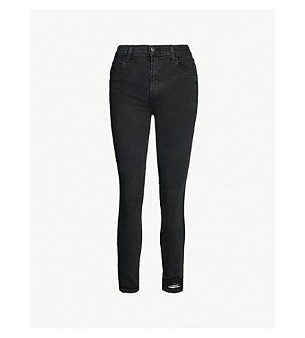 J BRAND Alana skinny cropped high-rise jeans (Bellatrix+destruct