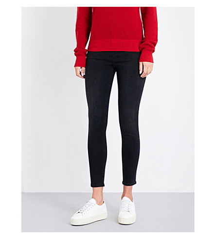 J BRAND Alana skinny cropped high-rise jeans (Dark+sanctify