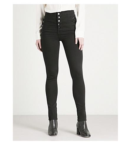 J BRAND Natasha super-skinny high-rise jeans (Seriously+black