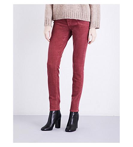 J BRAND 811 skinny mid-rise corduroy jeans (Bittersweet