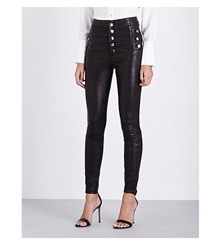 J BRAND Natasha skinny high-rise leather trousers (Black