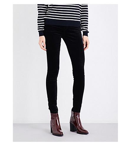 J BRAND Maria skinny high-rise velvet jeans (Black
