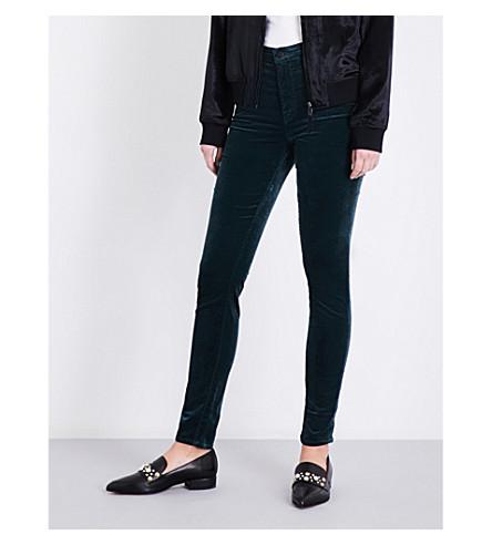 J BRAND Maria skinny high-rise velvet jeans (Morrland